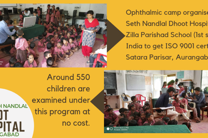 Ophthalmic camp organised at Zilla Parishad School
