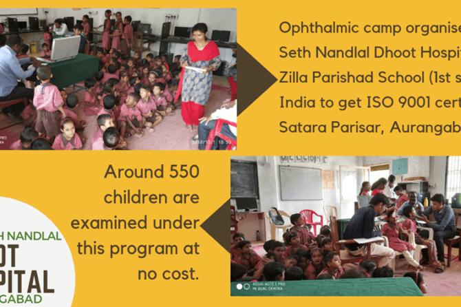 Ophthalmic camp organised at Zilla Parishad School